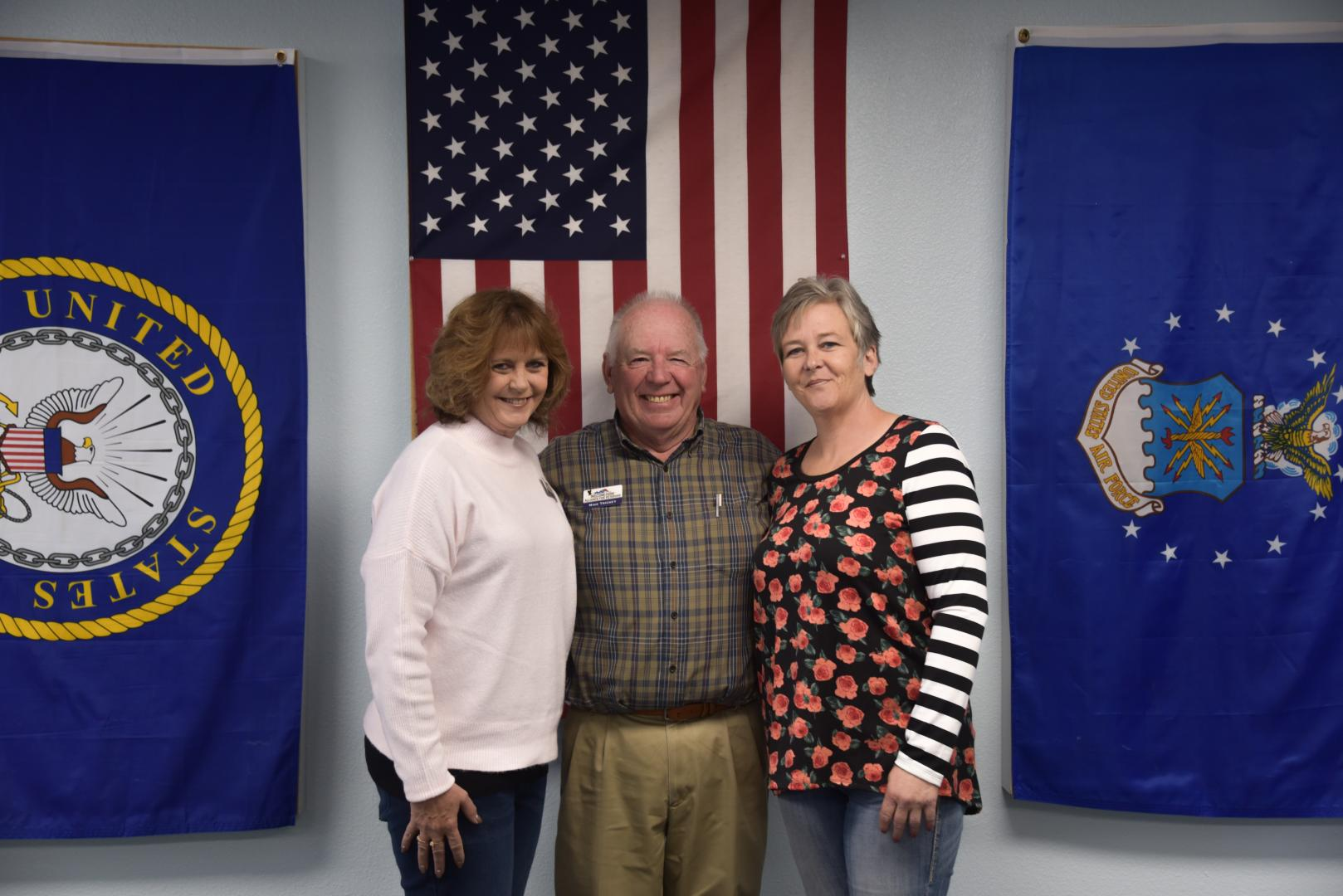 Amy Eifling, Mike Trickey, April Heard of Welcome Alliance for Veterans, Montrose CO